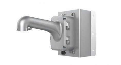 Hikvision DS-1604ZJ-box-corner-P Kültéri fali tartó 5 speed dómhoz; kötődobozzal; sarokadapterrel