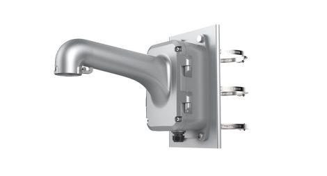 Hikvision DS-1604ZJ-box-pole-P Kültéri fali tartó 5 speed dómhoz; kötődobozzal; oszlopkonzollal