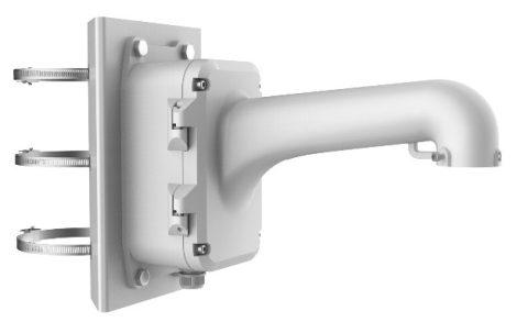 Hikvision DS-1604ZJ-box-pole Kültéri fali tartó 5 speed dómhoz; kötődobozzal; oszlopkonzollal; 100-200 mm átmérőig