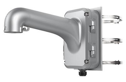 Hikvision DS-1604ZJ-pole-P Kültéri fali tartó speed dómokhoz; oszlopkonzollal; 67-127 mm átmérőhöz