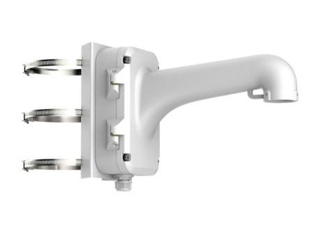 Hikvision DS-1604ZJ-pole Kültéri fali tartó 5 speed dómhoz; oszlopkonzollal; 67-127 mm átmérőhöz