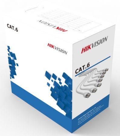 Hikvision DS-1LN6-UE-W UTP fali kábel, cat6; 305 fm; dobozos kiszerelés; 0,53 mm rézmag
