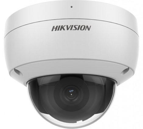 Hikvision DS-2CD2146G2-ISU (2.8mm)(C) 4MP AcuSense WDR fix EXIR IP dómkamera; hang I/O; riasztás I/O; beépített mikrofon