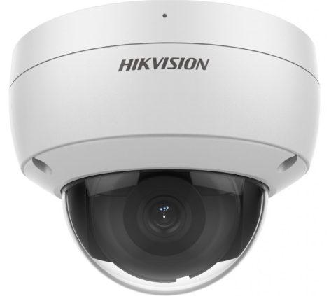 Hikvision DS-2CD2146G2-ISU (4mm)(C) 4MP AcuSense WDR fix EXIR IP dómkamera; hang I/O; riasztás I/O; beépített mikrofon