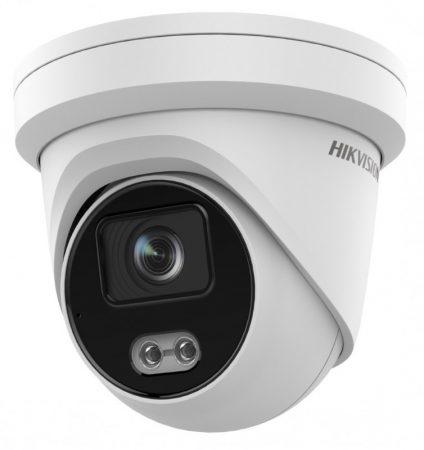 Hikvision DS-2CD2327G2-LU (2.8mm) 2 MP WDR fix ColorVu AcuSense IP dómkamera; láthatófény; beépített mikrofon