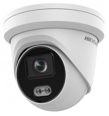 Hikvision DS-2CD2347G2-LU (4mm)(C) 4 MP WDR fix ColorVu AcuSense IP dómkamera; láthatófény; beépített mikrofon