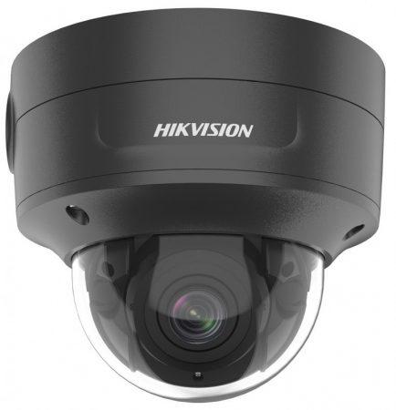 Hikvision DS-2CD2746G2-IZS-B (2.8-12)(C) 4 MP AcuSense WDR motoros zoom EXIR IP dómkamera; riasztás I/O; hang I/O; integrált RJ45; fekete