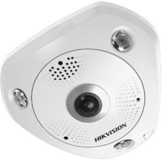 Hikvision DS-2CD6365G0-IS (1.27mm) 6 MP 360° IR Smart IP panorámakamera; hang és riasztás be- és kimenet; beépített mikrofon/hangszóró