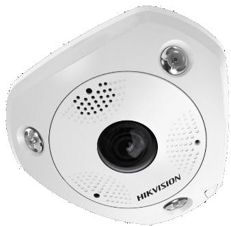 Hikvision DS-2CD6365G0E-IVS (1.27mm) (B) 6 MP 360° vandálbiztos IR Smart IP panorámakamera; hang/riasztás be-/kimenet; mikrofon/hangszóró