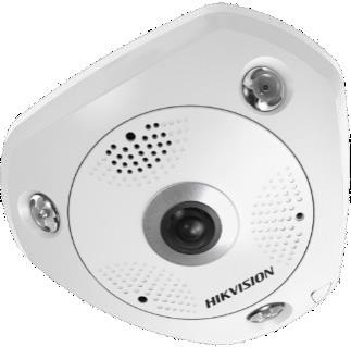 Hikvision DS-2CD63C5G0E-IS (2mm) (B) 12 MP 360° IR Smart IP panorámakamera; hang és riasztás be- és kimenet; beépített mikrofon/hangszóró