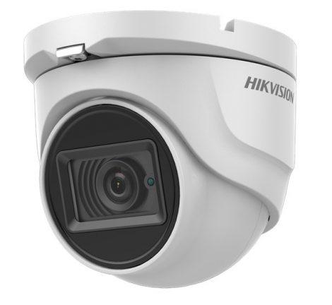 Hikvision DS-2CE76D0T-ITMFS (2.8mm) 2 MP THD fix EXIR dómkamera; TVI/AHD/CVI/CVBS kimenet; beépített mikrofon; koax audio