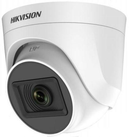 Hikvision DS-2CE76H0T-ITPF (2.8mm) (C) 5 MP THD fix EXIR dómkamera; OSD menüvel; TVI/AHD/CVI/CVBS kimenet