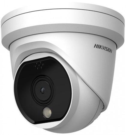 Hikvision DS-2TD1117-3/PA IP hőkamera; 50°x37°; dómkamera kivitel; ±8°C; -20°C-150°C; villogó fény/hangriasztás