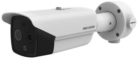 Hikvision DS-2TD2617-6/PA IP hő- (160x120) 50°x37° és láthatófény (4 MP) kamera; ±8°C; -20°C-150°C; villogó fény/hangriasztás