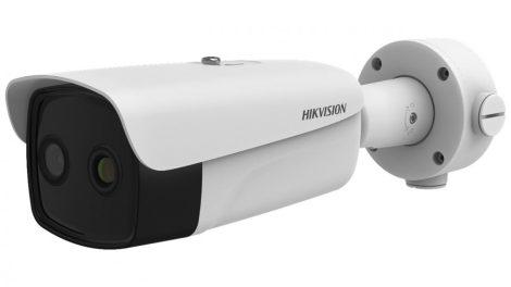 Hikvision DS-2TD2637B-10/P (B) IP hő- (384x288) és láthatófény (4 MP) kamera; testhőmérsékletre optimalizált (30°C - 45°C)