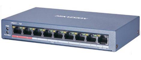 Hikvision DS-3E0109P-E/M (B) 9 portos PoE switch (60 W); 8 PoE + 1 uplink port; nem menedzselhető