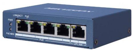 Hikvision DS-3E0505P-E/M 5 portos Gbit PoE switch (35 W); 4 PoE + 1 uplink port; nem menedzselhető