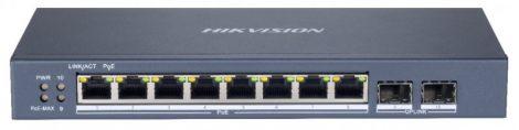 Hikvision DS-3E1510P-SI 10 portos Gbit PoE switch (110 W); 8 PoE + 2 SFP uplink port; smart menedzselhető