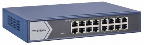 Hikvision DS-3E1516-EI 16 portos gigabit switch; smart menedzselhető
