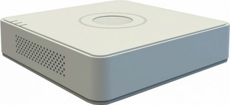 Hikvision DS-7104HUHI-K1 (S)(C) 4 csatornás THD DVR; 8MP@8fps; 5MP@12fps; 4MP@15fps; 1080p@25fps; +2×8MP IP, koax audio