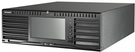 Hikvision DS-96128NI-I16/H 128 csatornás NVR; 768/512 Mbps be-/kimeneti sávszélesség; riasztás be-/kimenet; +6×HDMI(4K) kimenet