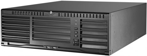 Hikvision DS-96128NI-I16 128 csatornás NVR; 576/512 Mbps be-/kimeneti sávszélesség; riasztás be-/kimenet