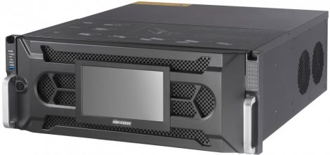 Hikvision DS-96128NI-I24/H 128 csatornás NVR; 768/512 Mbps be-/kimeneti sávszélesség; riasztás be-/kimenet; +6×HDMI(4K) kimenet