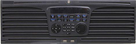 Hikvision DS-9632NI-I16 32 csatornás NVR; 320/256 (RAID: 200/200) Mbps be-/kimeneti sávszélesség; riasztás be-/kimenet