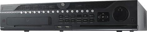Hikvision DS-9664NI-I8 64 csatornás NVR; 320/256 (RAID: 200/200) Mbps be-/kimeneti sávszélesség; riasztás be-/kimenet