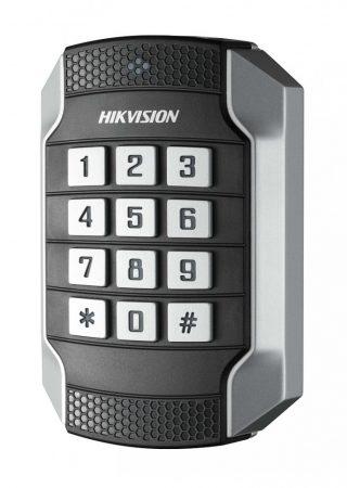 Hikvision DS-K1104MK Kártyaolvasó 13.56 MHz (Mifare); RS485 és Wiegand kimenet; kültéri; billentyűzettel