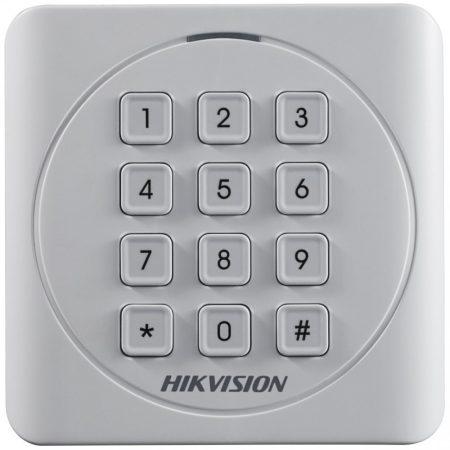 Hikvision DS-K1801MK Kártyaolvasó 13,56 MHz; Wiegand kimenet; kültéri; billentyűzettel