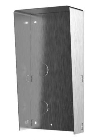 Hikvision DS-KABD8003-RS2/S Társasházi IP video-kaputelefon esővédő keret; 2 modulos verzió; rozsdamentes acél