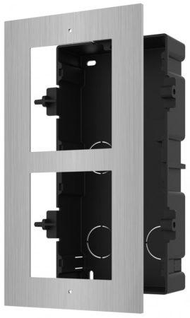 Hikvision DS-KD-ACF2/S Társasházi IP video-kaputelefon szerelőkeret süllyesztéshez; 2 modulos verzió; rozsdamentes acél