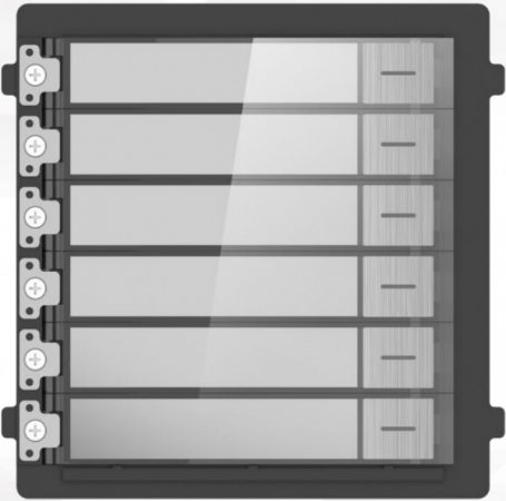 Hikvision DS-KD-KK/S Társasházi IP video-kaputelefon kültéri 6 lakásos modulegység; rozsdamentes acél