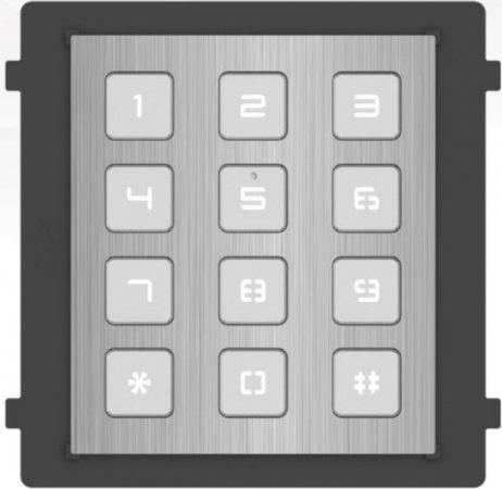 Hikvision DS-KD-KP/S Társasházi IP video-kaputelefon kültéri billentyűzet/tasztatúra modulegység; rozsdamentes acél