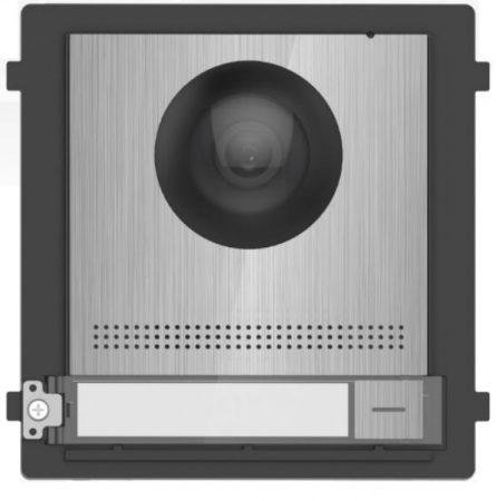 Hikvision DS-KD8003-IME2/S Társasházi IP video-kaputelefon kültéri főegység; fém; moduláris; 2 vezetékes; rozsdamentes acél