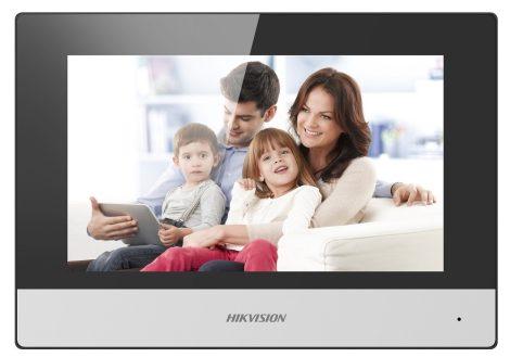 Hikvision DS-KH6320-WTE2 (Europe BV) IP video-kaputelefon beltéri egység; 7 LCD kijelző; 1024x600 felbontás; WiFi; 2 vezetékes