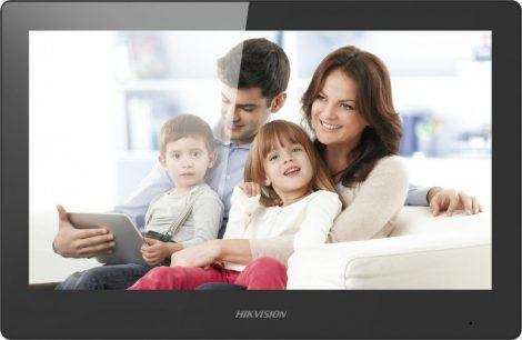 Hikvision DS-KH8520-WTE1 (Europe BV) IP video-kaputelefon beltéri egység; 10 LCD kijelző; 1024x600 felbontás; WiFi; 48 V PoE