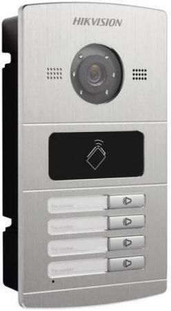 Hikvision DS-KV8402-IM Négylakásos IP video-kaputelefon kültéri egység; fém; beépített kártyaolvasóval; IR-megvilágítás