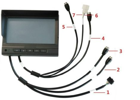 Hikvision DS-MP1302/Bracket Mounting 7 LCD monitor; mobil rögzítőhöz; 1 multilink, 2 videojel és 1 intercom bemenet