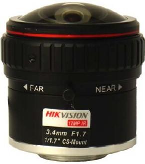 Hikvision HF3417D-12MPIR 12 MP 3.4 mm objektív; CS 1/1.7; IR-korrigált