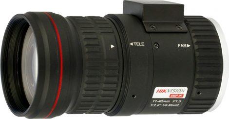 Hikvision HV1140D-8MPIR 8 MP 11-40 mm varifokális objektív; CS 1/1.8; IR-korrigált