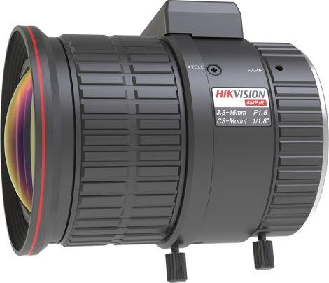 Hikvision HV3816D-8MPIR 8 MP 3.8-16 mm varifokális objektív; CS 1/1.8; IR-korrigált