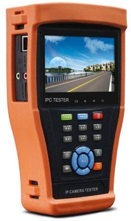 Hikvision IPC-4300H IP kamera teszter; 4.3; érintőkijelző; IP/THD/AHD/analóg kamerákhoz