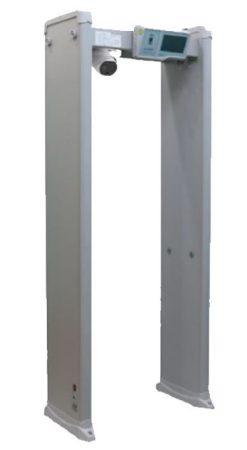 Hikvision ISD-SMG318LT-F Fémérzékelő kapu beépített testhőmérséklet méréssel; 160x120; 18 független érzékelési zóna; LCD