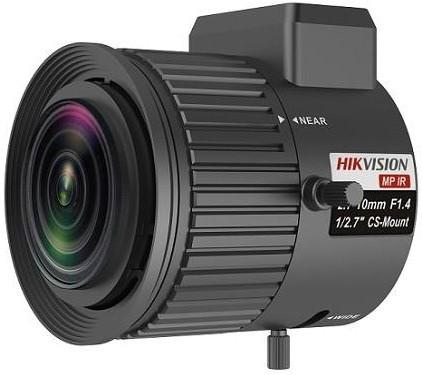 Hikvision TV2710D-MPIR 3 MP 2.7-10 mm varifokális objektív; CS 1/2.7; IR-korrigált