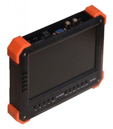 Hikvision X41T THD tesztmonitor; 7 LCD kijelző; 800x480 felbontás; analóg és TVI kamerákhoz